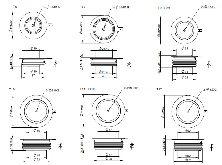 fast-thyristor-outline-size-drawing