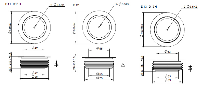 ctifier diode power diode table